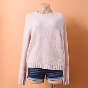 Cos Pink Blush Knit Soft Cotton Sweater L